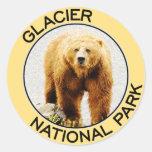 Parque Nacional Glacier Pegatina Redonda