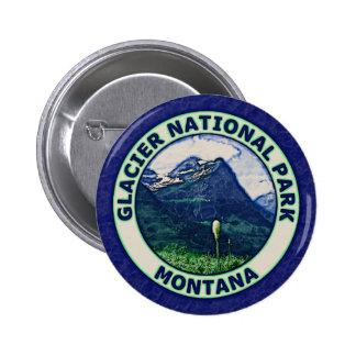 Parque Nacional Glacier Pin Redondo De 2 Pulgadas