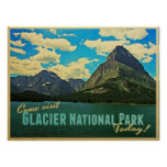 Parque Nacional Glacier Poster