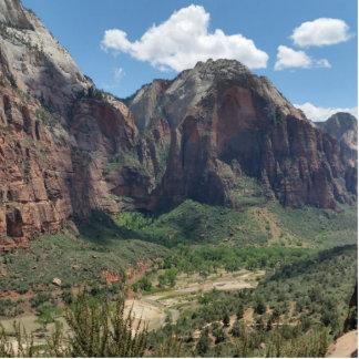 Parque nacional hermoso de Zion Imán Fotoescultura