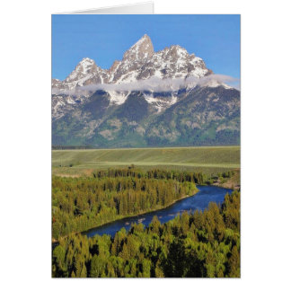 Parque nacional magnífico 3 de Teton Tarjeta