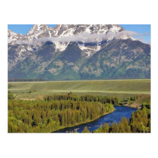 Parque nacional magnífico 3 de Teton Tarjeta Postal