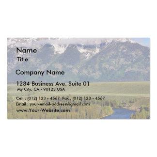 Parque nacional magnífico 3 de Teton Tarjetas De Visita