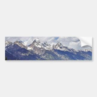Parque nacional magnífico de Teton Pegatina De Parachoque