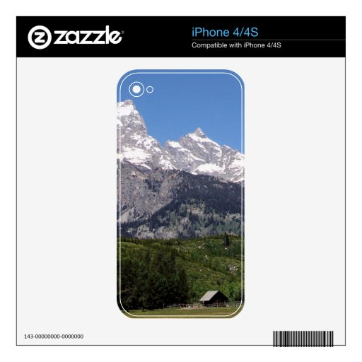 Parque nacional magnífico de Teton Calcomanías Para El iPhone 4