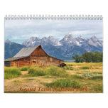 Parque nacional magnífico de Teton Calendario