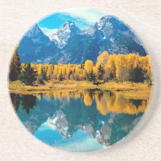 Parque nacional magnífico de Teton del otoño del a Posavasos Personalizados