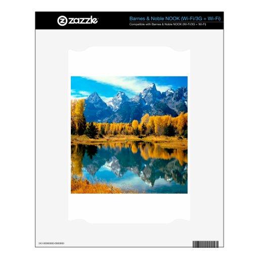 Parque nacional magnífico de Teton del otoño del a NOOK Skins