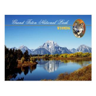 Parque nacional magnífico de Teton en Wyoming Tarjetas Postales