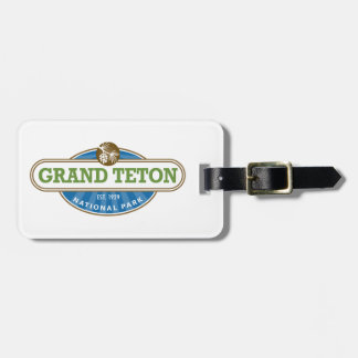 Parque nacional magnífico de Teton Etiqueta Para Equipaje
