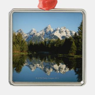 Parque nacional magnífico de Teton, gama de Teton, Adorno Navideño Cuadrado De Metal