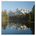 Parque nacional magnífico de Teton, gama de Teton, Azulejo Cuadrado Grande
