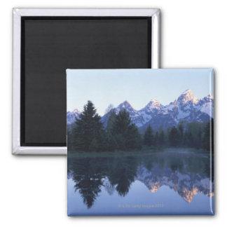 Parque nacional magnífico de Teton, gama de Teton, Imán Cuadrado