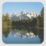 Parque nacional magnífico de Teton, gama de Teton, Calcomanías Cuadradass