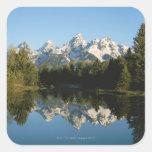 Parque nacional magnífico de Teton, gama de Teton, Pegatina Cuadrada