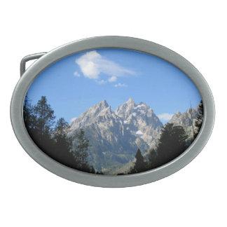 Parque nacional magnífico de Teton Hebilla De Cinturon Oval