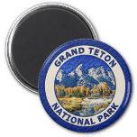 Parque nacional magnífico de Teton Imán Para Frigorifico
