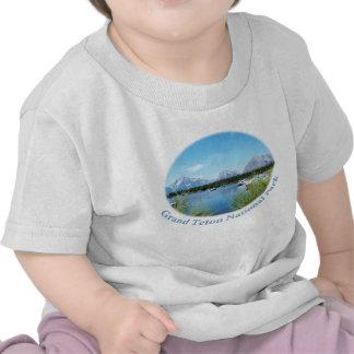 Parque nacional magnífico de Teton. Imagen del Camiseta