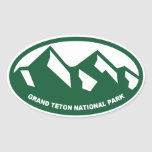 Parque nacional magnífico de Teton Colcomanias Ovaladas