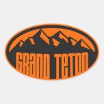 Parque nacional magnífico de Teton Pegatinas Ovales