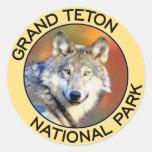 Parque nacional magnífico de Teton Pegatina Redonda