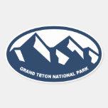 Parque nacional magnífico de Teton Calcomanías De Ovales Personalizadas
