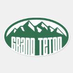 Parque nacional magnífico de Teton Colcomanias Óval