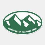 Parque nacional magnífico de Teton Pegatina Ovalada