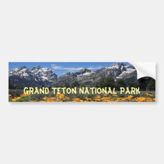 Parque nacional magnífico de Teton Pegatina Para Auto