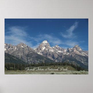 Parque nacional magnífico de Teton Poster