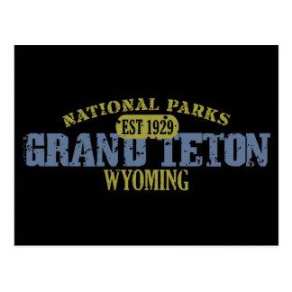 Parque nacional magnífico de Teton Postal