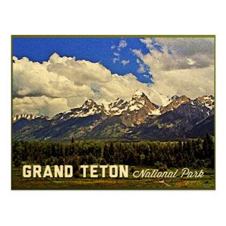 Parque nacional magnífico de Teton Tarjeta Postal