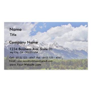 Parque nacional magnífico de Teton Tarjetas De Visita