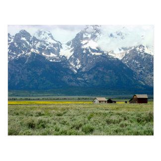 Parque nacional magnífico de Teton Tarjetas Postales