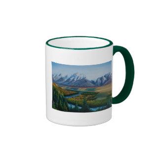 Parque nacional magnífico de Teton Taza A Dos Colores