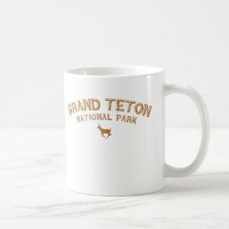 Parque nacional magnífico de Teton Tazas De Café