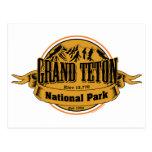 Parque nacional magnífico de Teton, Wyoming Postal