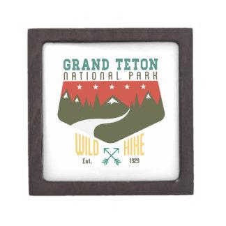 Parque nacional magnífico Wyoming de Teton Cajas De Recuerdo De Calidad