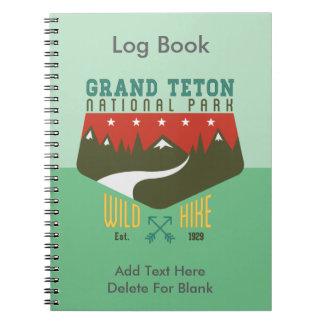 Parque nacional magnífico Wyoming de Teton Libreta
