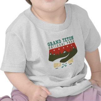 Parque nacional magnífico Wyoming de Teton Camiseta