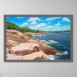 Parque nacional Maine del verano del Acadia rocoso Impresiones