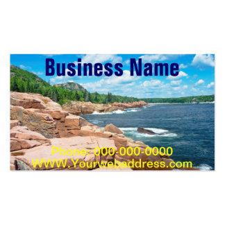 Parque nacional Maine del verano del Acadia rocoso Tarjeta De Visita