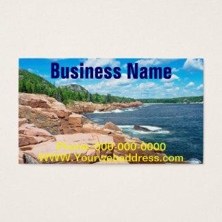 Parque nacional Maine del verano del Acadia rocoso Tarjetas De Visita