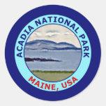 Parque nacional Maine, los E.E.U.U. del Acadia Pegatinas Redondas