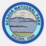 Parque nacional Maine, los E.E.U.U. del Acadia Etiquetas Redondas