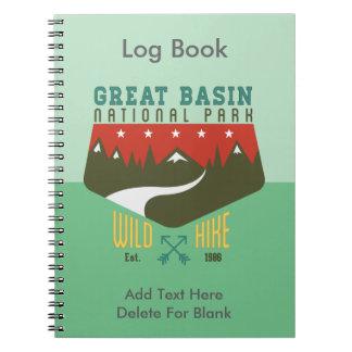 Parque nacional Nevada del gran lavabo Libro De Apuntes