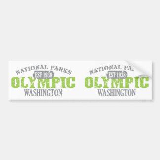 Parque nacional olímpico etiqueta de parachoque