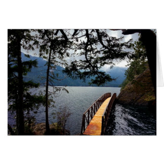 Parque nacional olímpico del cuenco de sacador de tarjeta de felicitación