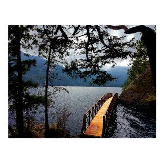 Parque nacional olímpico del cuenco de sacador de tarjetas postales