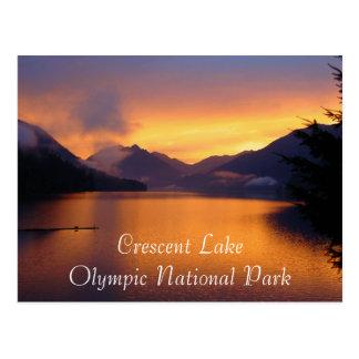 Parque nacional olímpico del lago creciente tarjeta postal